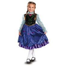 Picture of Frozen Deluxe Traveling Anna Child Costume