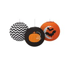 Picture of Halloween Print Paper Lanterns 3ct