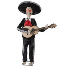 Picture of Mariachi Skeleton Playing Guitar Animated Prop