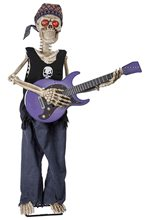 Picture of Rockstar Skeleton Playing Guitar Animated Prop
