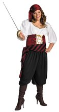 Picture of First Mate Pirate Adult Womens Plus Size Costume