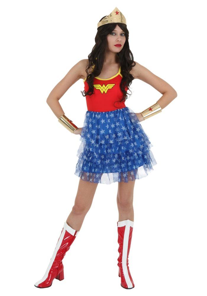Picture of Wonder Woman Adult Womens Tutu Skirt Dress