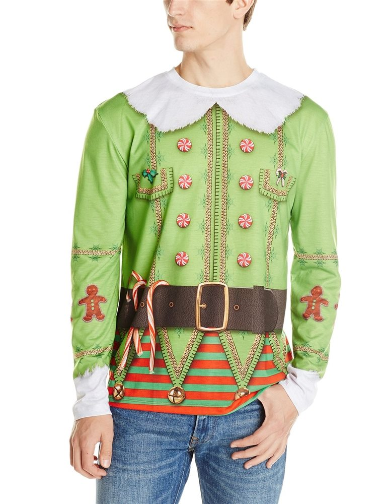Picture of Christmas Elf Adult Mens T-Shirt