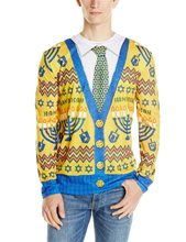 Picture of Ugly Hanukkah Sweater Adult Mens T-Shirt