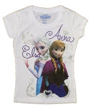 Picture of Disney Frozen Elsa & Anna White Toddler T-Shirt
