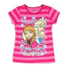 Picture of Disney Frozen Anna & Elsa Striped Pink Child T-Shirt