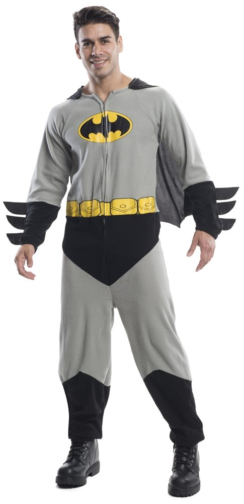 Picture of Batman Adult Mens Onesie with Cape