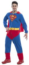 Picture of Superman Adult Mens Onesie with Cape