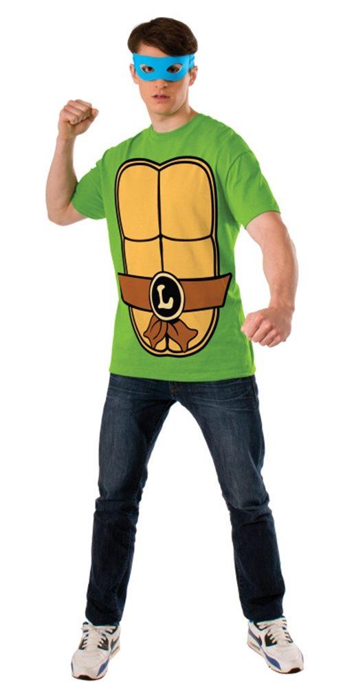Picture of TMNT Leonardo Adult Mens T-Shirt & Mask Set