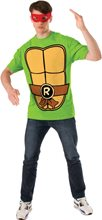 Picture of TMNT Raphael Adult Mens T-Shirt & Mask Set