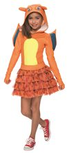 Picture of Pokemon Charizard Hooded Dress Child Costume