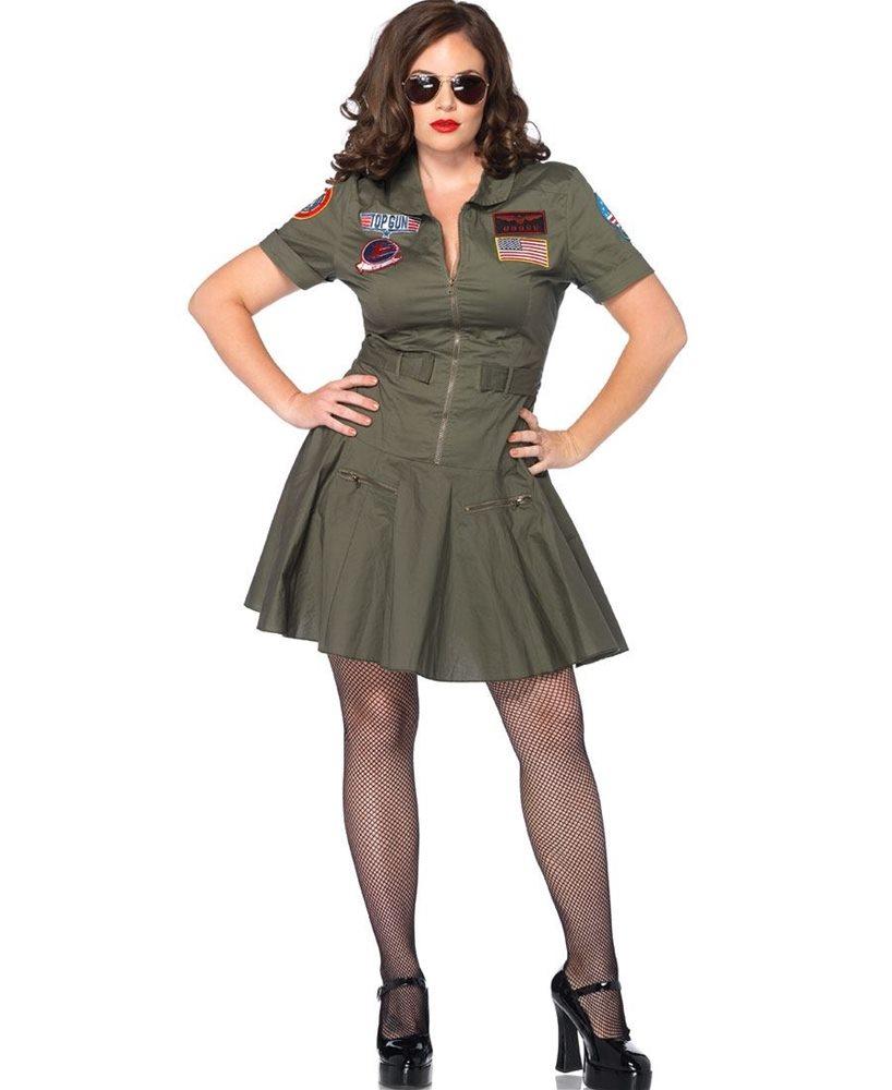 Picture of Top Gun Flight Dress Adult Womens Plus Size Costume