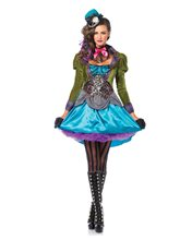 Picture of Stylish Mad Hatter Deluxe Adult Womens Costume