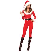 Picture of Santa Baby Catsuit Adult Womens Costume