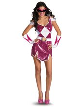Picture of Pink Power Ranger Glam Adult Womens Costume