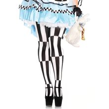 Picture of Woven Striped Optical Illusion Plus Size Pantyhose
