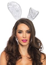 Picture of White Lace Bunny Headband