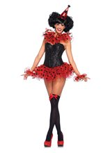 Picture of Red & Black Polka Dot Clown Costume Kit