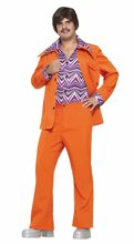 Picture of 70s Orange Leisure Suit Adult Mens Costume