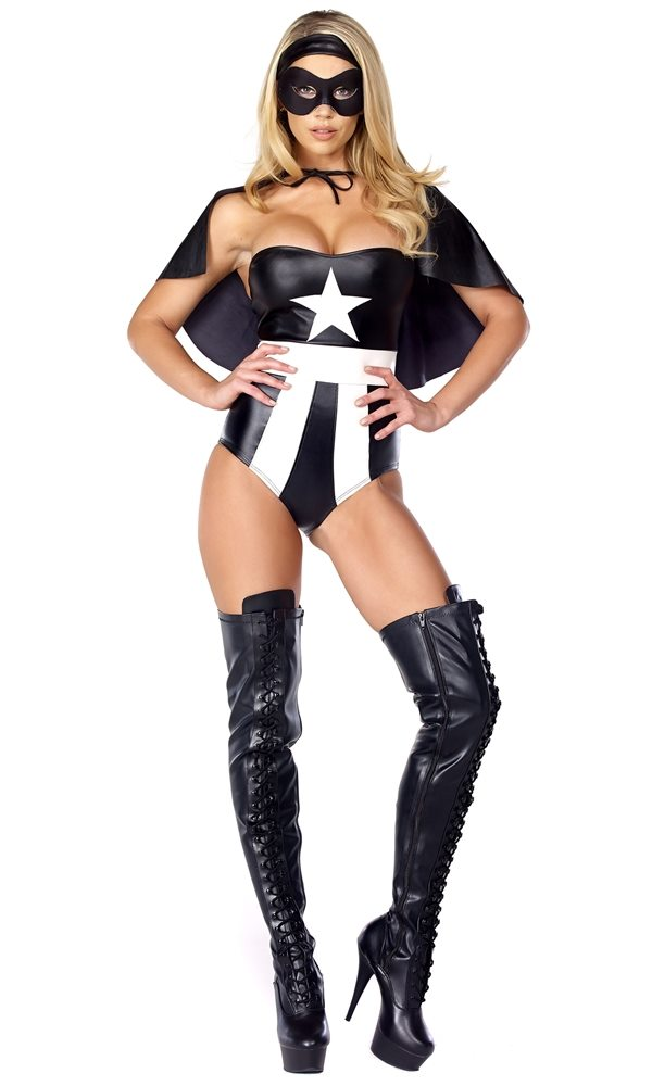 Picture of Fascinating Force Hero Adult Womens Costume