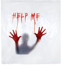 Picture of Bloody Help Me Shower Curtain