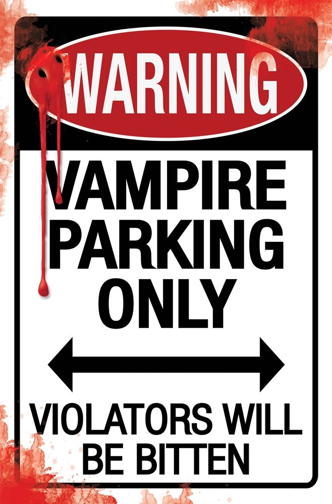 Picture of Metal Halloween Parking Sign (More Styles)