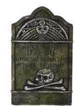 Picture of Skull & Crossbones Tombstone 22in