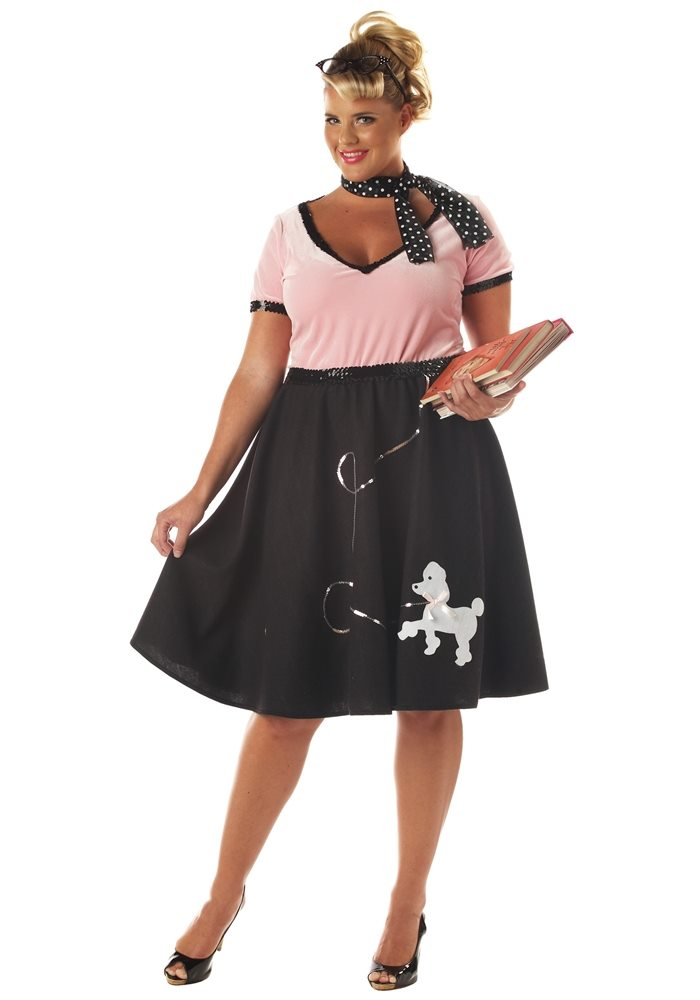 Picture of 50's Sweetheart Adult Womens Plus Size Costume
