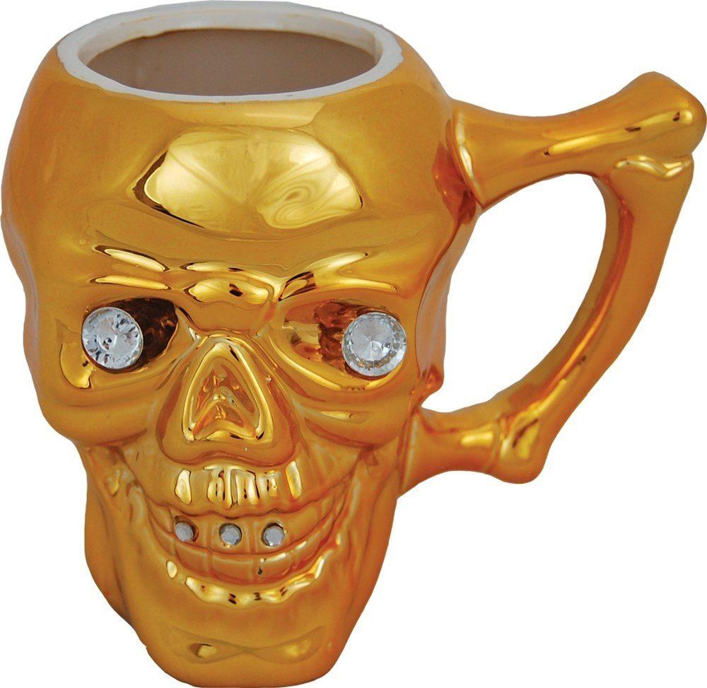 Picture of Gold Skull Mug