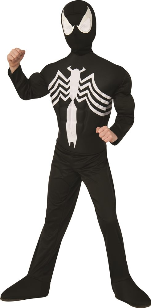 Picture of Black Suited Deluxe Spider-Man Muscle Child Costume