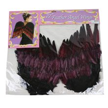 Picture of Black & Burgundy Gothic Wings 22in