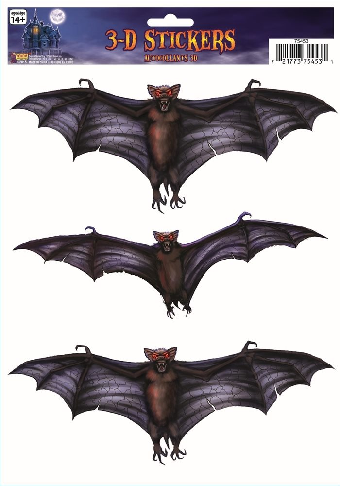 Picture of 3D Bat Window Stickers