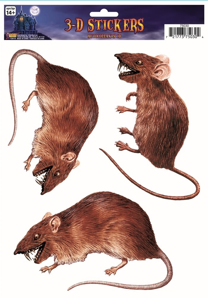 Picture of 3D Rat Window Stickers