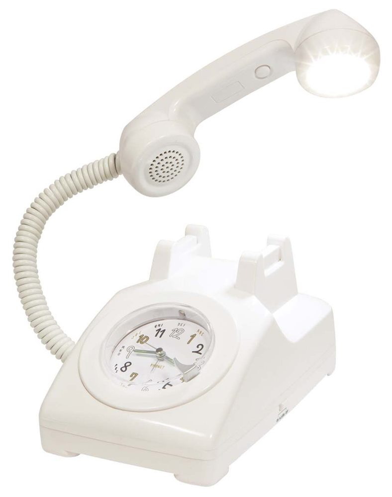 Picture of 1960s Style Classic Phone Alarm Clock & Lamp