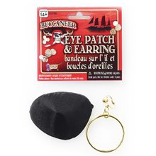 Picture of Pirate Earring & Eyepatch Set