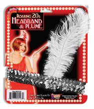 Picture of Flapper Elastic Headband with Plume (More Colors)