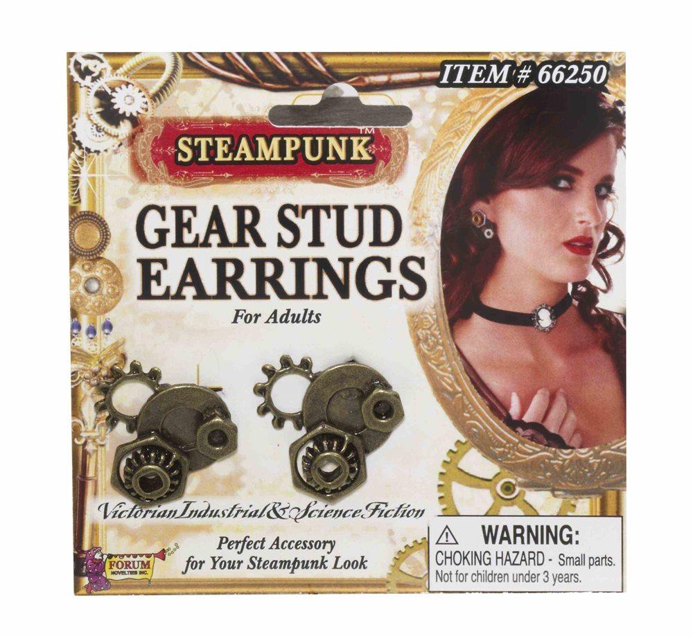 Picture of Steampunk Gear Stud Earrings