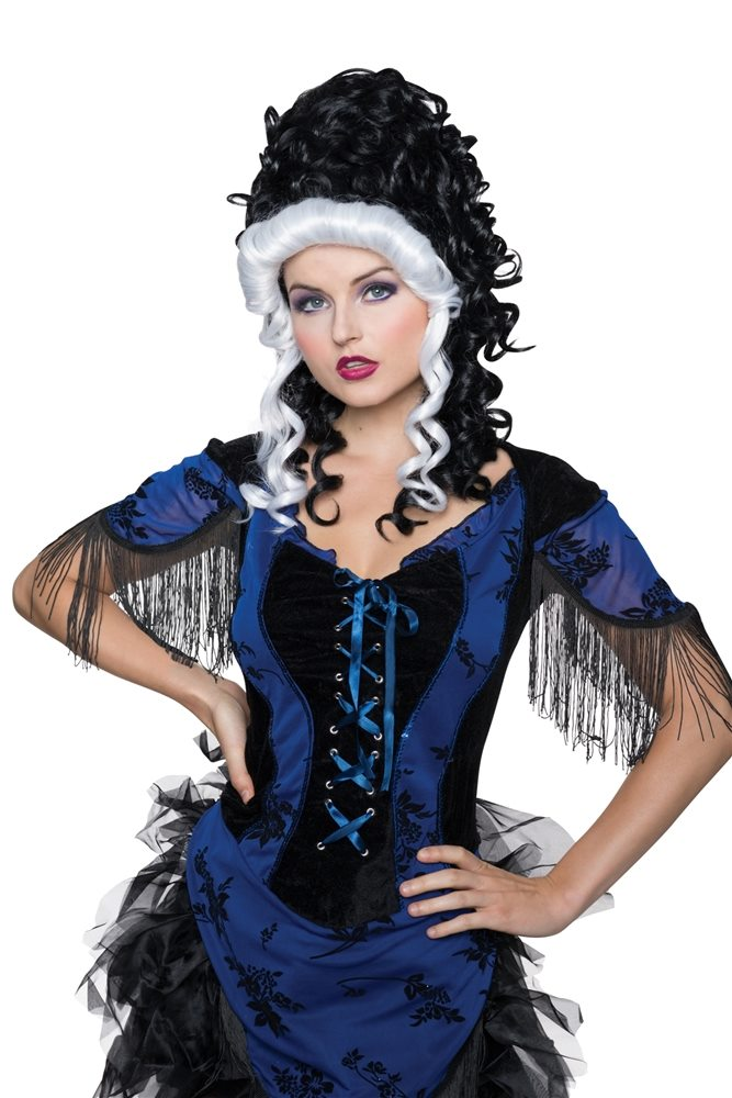 Picture of Black and White Victorian Wig