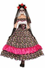 Picture of Day of the Dead Spanish Lady Adult Womens Costume