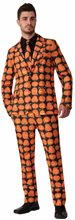 Picture of Orange Pumpkin Adult Mens Suit & Tie