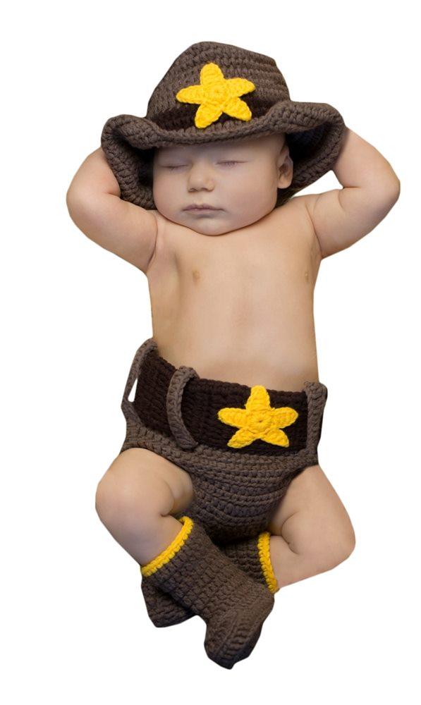 Picture of Cowboy Cutie Newborn Costume Set
