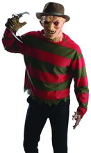 Picture of Freddy Krueger Adult Shirt & Mask Set