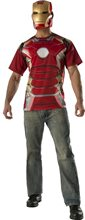 Picture of Avengers 2: Age of Ultron Iron Man Adult Mens T-Shirt & Mask
