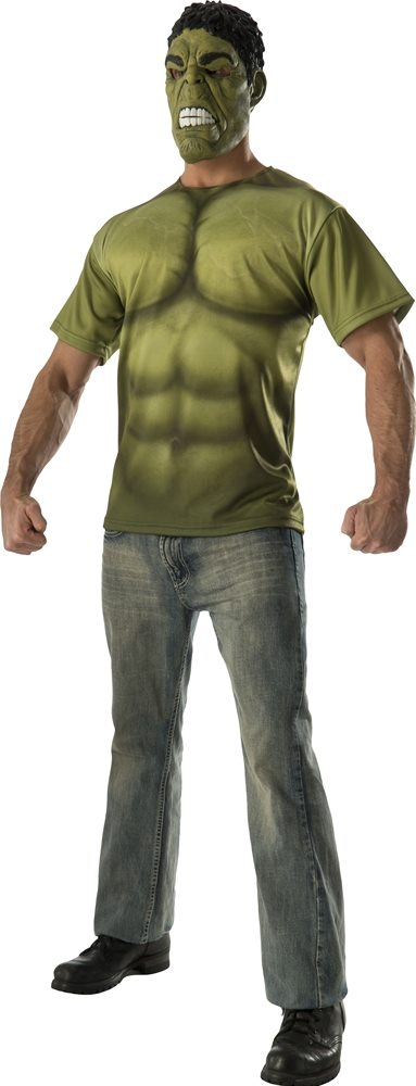 Picture of Avengers 2: Age of Ultron Hulk Adult Mens T-Shirt & Mask