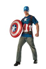 Picture of Avengers 2: Age of Ultron Captain America Adult Mens T-Shirt & Mask