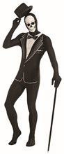 Picture of Disappearing Man Skull Tuxedo Teen Bodysuit