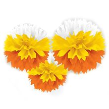 Picture of Candy Corn Fluffy Decorations 3ct