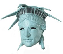 Picture of Miss Liberty Latex Mask