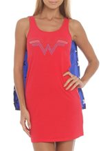 Picture of Wonder Woman Adult Womens Sleep Tank with Cape
