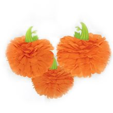 Picture of Halloween Pumpkin Fluffy Decorations 3ct